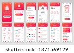 set of ui  ux  gui screens... | Shutterstock .eps vector #1371569129