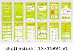 set of ui  ux  gui screens... | Shutterstock .eps vector #1371569150