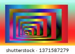 optical background with striped ... | Shutterstock .eps vector #1371587279