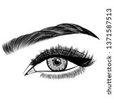 illustration with woman's eye ... | Shutterstock .eps vector #1371587513