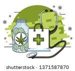 cannabis medical concept | Shutterstock .eps vector #1371587870