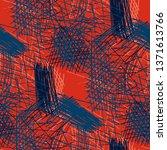 various pen hatches. seamless... | Shutterstock .eps vector #1371613766