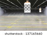 target rows at a shooting range | Shutterstock . vector #137165660