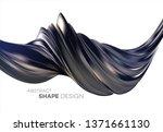 fluid poster design. abstract... | Shutterstock .eps vector #1371661130