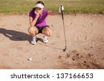 Young Female Golfer Frustrated...