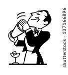 Bartender Mixing Drink   Retro...