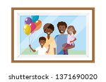 couple with children photo frame   Shutterstock .eps vector #1371690020