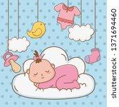 cute baby shower cartoon | Shutterstock .eps vector #1371694460