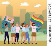 homosexual proud cartoon | Shutterstock .eps vector #1371694709