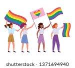 homosexual proud cartoon   Shutterstock .eps vector #1371694940