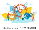 achievement level employee... | Shutterstock .eps vector #1371709310