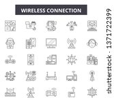 wireless connection line icons  ... | Shutterstock .eps vector #1371722399