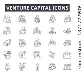 venture capital line icons ... | Shutterstock .eps vector #1371722909