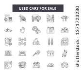 used cars for sale line icons ...   Shutterstock .eps vector #1371723230