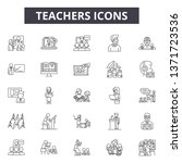 teachers line icons  signs set  ... | Shutterstock .eps vector #1371723536