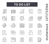 to do list line icons  signs... | Shutterstock .eps vector #1371723566