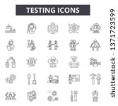 testing line icons  signs set ... | Shutterstock .eps vector #1371723599