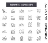 recreation centres line icons ... | Shutterstock .eps vector #1371724799