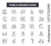 public speaker line icons ... | Shutterstock .eps vector #1371725390