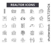 realtor line icons  signs set ... | Shutterstock .eps vector #1371725426