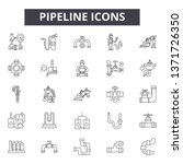 pipeline line icons  signs set  ... | Shutterstock .eps vector #1371726350