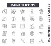 painter line icons  signs set ... | Shutterstock .eps vector #1371726596
