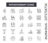 physiotherapy line icons  signs ... | Shutterstock .eps vector #1371726716