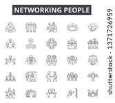 networking people line icons ... | Shutterstock .eps vector #1371726959