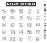 marketing   pr line icons ... | Shutterstock .eps vector #1371728120