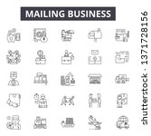 mailing business line icons ... | Shutterstock .eps vector #1371728156