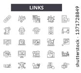 links line icons  signs set ... | Shutterstock .eps vector #1371728849