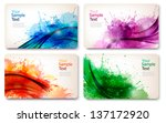 collection of colorful abstract ... | Shutterstock .eps vector #137172920
