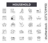 household line icons  signs set ... | Shutterstock .eps vector #1371729950