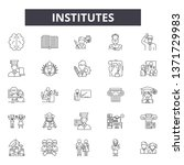 institutes line icons  signs... | Shutterstock .eps vector #1371729983