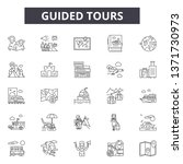 guided tours line icons  signs...   Shutterstock .eps vector #1371730973