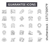 guarantee line icons  signs set ... | Shutterstock .eps vector #1371730979