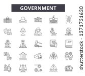 government concept line icons ... | Shutterstock .eps vector #1371731630