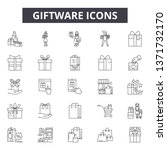 giftware line icons  signs set  ... | Shutterstock .eps vector #1371732170