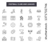 football clubs and leagues line ... | Shutterstock .eps vector #1371732746