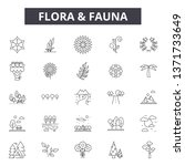 flora and fauna line icons ... | Shutterstock .eps vector #1371733649