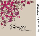 elegant floral background ... | Shutterstock .eps vector #137173748
