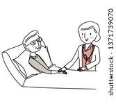 female doctor comforting her...   Shutterstock .eps vector #1371739070
