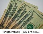 Small photo of paper money twenties us American currency close up dollar bill twenty