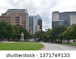 austin  tx   oct 13  skyline of ... | Shutterstock . vector #1371769133