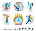 set stress from breaking...   Shutterstock .eps vector #1371769529
