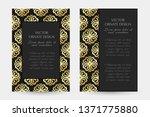 golden floral ornament. luxury... | Shutterstock .eps vector #1371775880