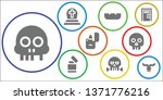 death icon set. 9 filled death...   Shutterstock .eps vector #1371776216