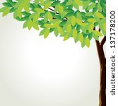 Illustration Of A Tall Tree On...