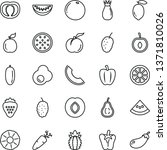 thin line vector icon set  ... | Shutterstock .eps vector #1371810026