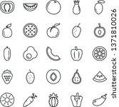 thin line vector icon set  ...   Shutterstock .eps vector #1371810026